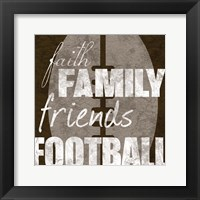 Football Friends Framed Print