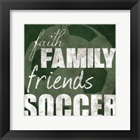 Soccer Friends Framed Print