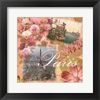 Framed Paris Amour Coral