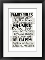 Family Rules Framed Print
