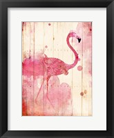 Framed Flamingo Henna