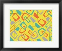 Retro Blocks Framed Print