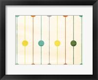 Retro Stripe Circles Framed Print