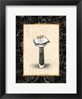 Black Gold Sink Framed Print