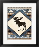 Moose Pattern Framed Print