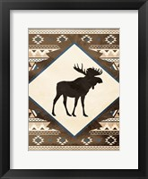 Moose Pattern Mate Framed Print