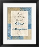 Christ Strength Framed Print