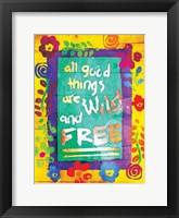 Wild And Free Framed Print