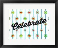 Celebrate Dots Framed Print
