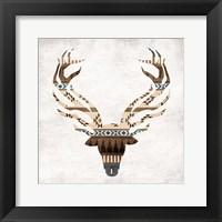 Aztec Deer Mate Framed Print