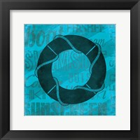 Summer  Bright Lifesaver Framed Print