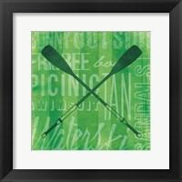 Summer Bright Oars Framed Print
