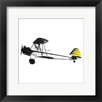Framed Simple Plane Yellow