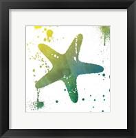Starfish Splatter Framed Print