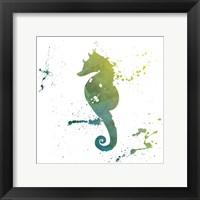 Framed Seahorse Splatter