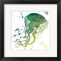 Jellyfish Splatter Framed Print