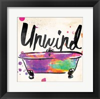 Framed Unwind Colorful Bath