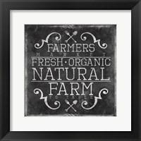 Farmers Market Chalkboard Framed Print