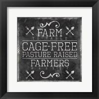 Farmers Market Chalkboard Mate Framed Print