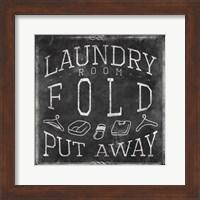 Framed Chalkboard Laundry Mate