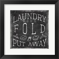Framed Chalkboard Laundry Mate
