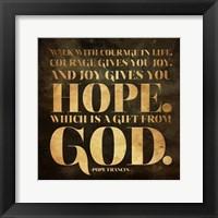 Gift from God Framed Print