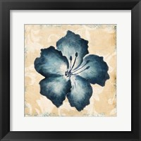 Blue Flower Mate Framed Print