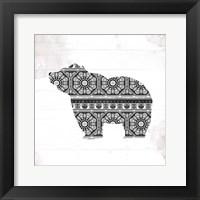 Bear Patterns Framed Print