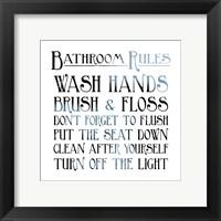Framed Bathroom Rules