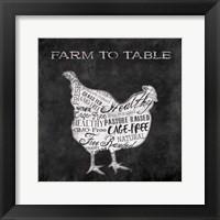 Farm To Chicken Framed Print