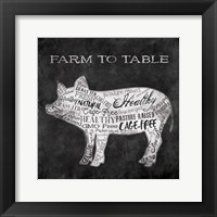 Farm To Pig Framed Print