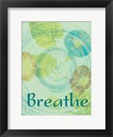Breathe Flora Framed Print