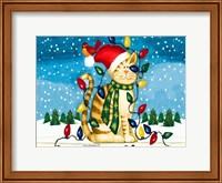 Framed Christmas Cat