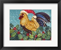 Framed Mr Christmas Rooster