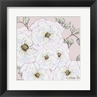 White Flowers on Nude 1 Framed Print