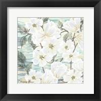 Framed White Water Flowers 2