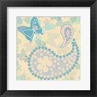 Framed Pastel Paisley 2