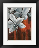 Framed Pearl Orchid I