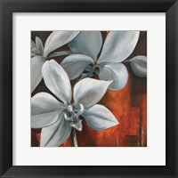 Pearl Orchid II Square Framed Print