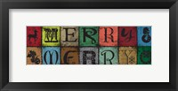 Christmas Woodblock Letters 3 Framed Print