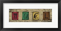 Christmas Woodblock Letters 4 Framed Print