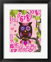 Framed Owl Set Numlet Pinks 2