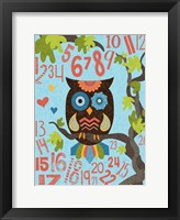 Framed Owl Set Numlet 2