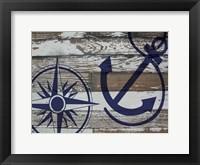 Coastal Nautical 01 Framed Print