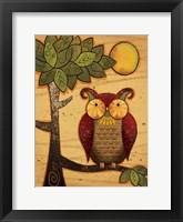 Texture Owls 01 Framed Print