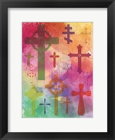 Watercolor Cross 1 Framed Print