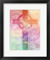 Watercolor Cross Words 2 Framed Print