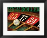 High Roller Casino Grunge 1 Framed Print