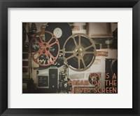 Silver Screen Cinema Pair 1 Framed Print