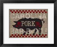 Carolina Pork BBQ Framed Print
